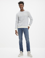 Jean slim stretch 5 poches - GOBARIS_STEELBLUE - Silhouette - Celio France