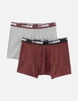 Lot de 2 boxers unis - CNINE2_HEATHERBURGUNDY - Image à plat - Celio France