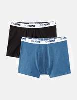 Lot de 2 boxers unis - CNINE2_PETROLECHINE - Image à plat - Celio France
