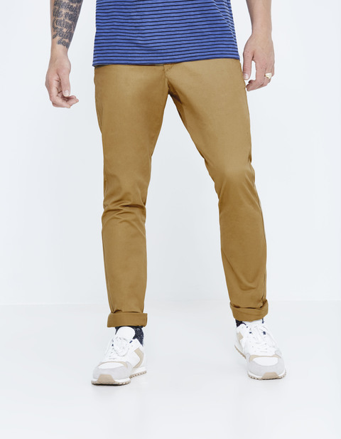 Chino slim coton stretch - DOTALIA3_TAN01 - Vue de face - Celio France