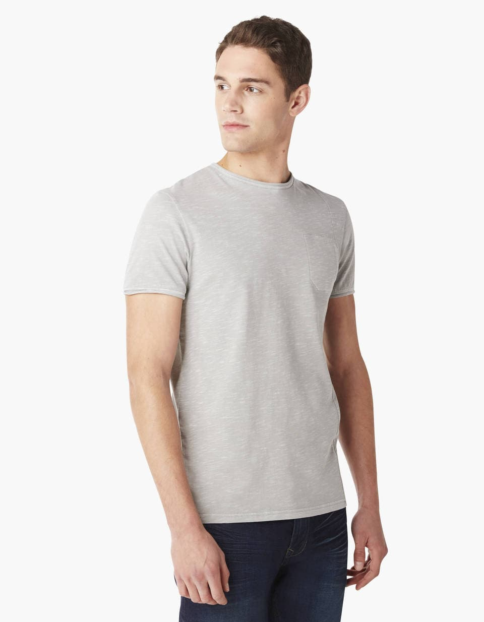 Tee-shirt col maille