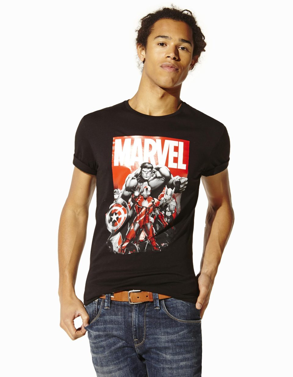tee shirt s rie limit e marvel lvemarvel celio france. Black Bedroom Furniture Sets. Home Design Ideas