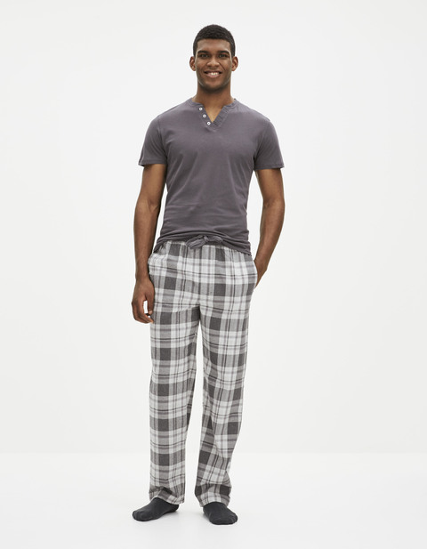 Pyjamas homme celio france for Pyjama homme carreaux