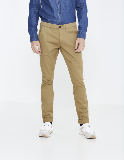 Chino skinny coton stretch - DOTALIA4_TAN01 - Vue de face - Celio France