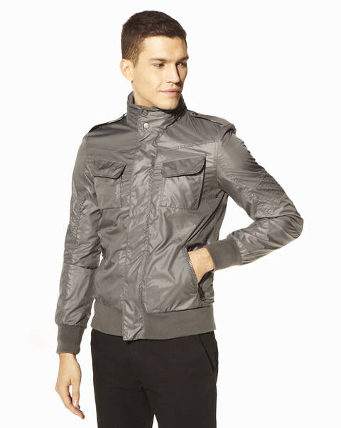 Blouson court - OASBY_ANTHRACITEGRANPA - Vue de face - Celio France