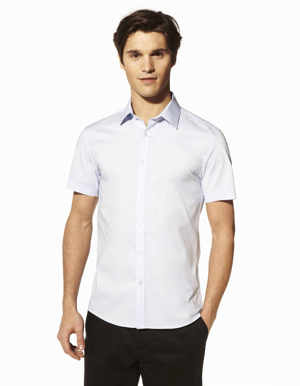 Chemise manches courtes coupe slim