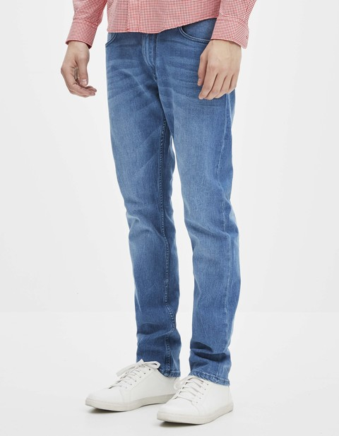 Jean straight 5 poches - GOBRIGHT15_BLEACHED - Vue de face - Celio France