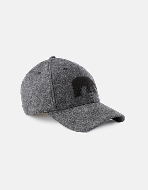 casquette patch ours - JIOURS_ANTHRACITE - Vue de face - Celio France