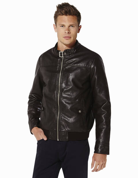 Blouson aviateur - OSTIV_BROWNCANADIAN - Vue de face - Celio France