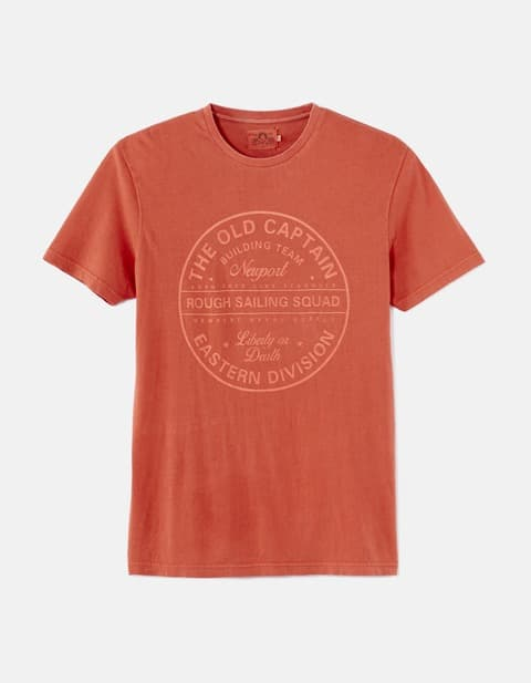 T-shirt imprimé straight 100% coton - ADESUN_ORANGE - Image à plat - Celio France