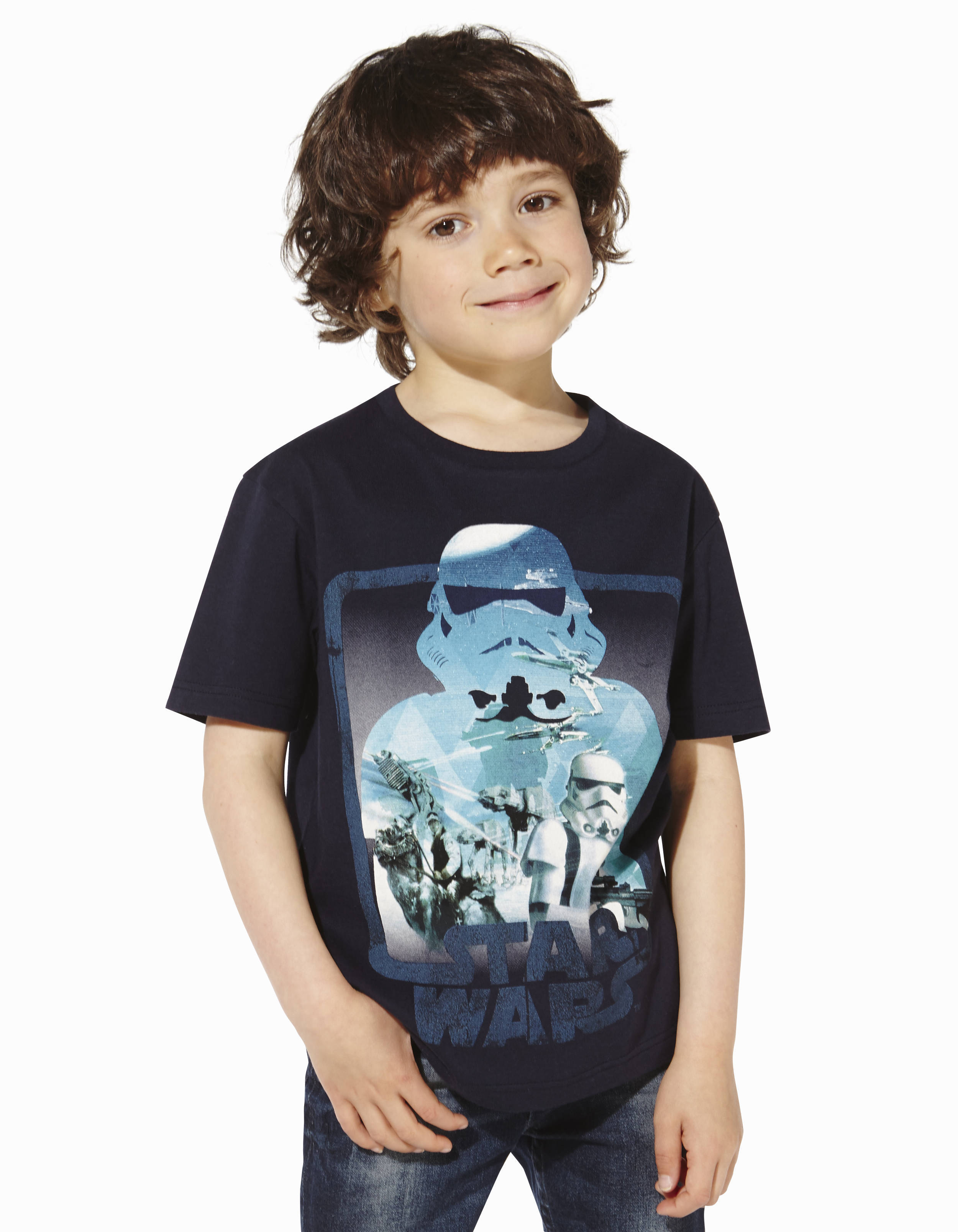 t shirt enfant star wars 100 coton lbetroope2 celio france. Black Bedroom Furniture Sets. Home Design Ideas