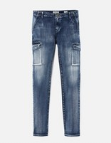 Jean slim stretch multi-poches - GOBAT_BLEU - Image à plat - Celio France