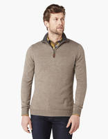 Pull straight chiné - SELIM_HEATHERTAUPE01 - Vue de face - Celio France