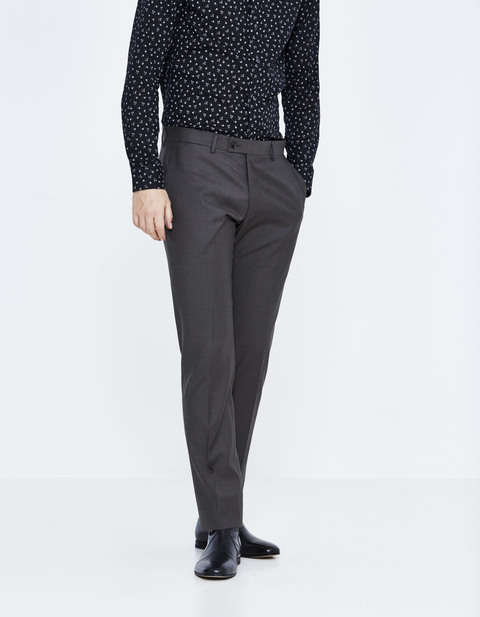 Pantalon de costume slim 100% laine - JOPARIS_ANTHRACITE - Vue de face - Celio France