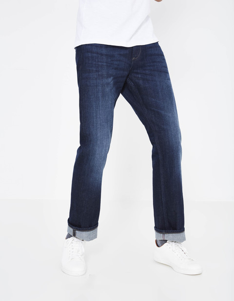 jean regular stretch 3 longueurs  - ROPLUS5_BLUEBLACK - Vue de face - Celio France