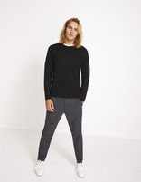 pull straight col rond patches - MEDIA_BLACK - Silhouette - Celio France