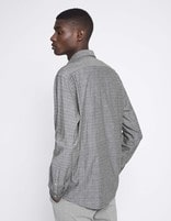 Chemise regular 100% coton  - NACLOTH_CHAMBRAY - Vue de dos - Celio France