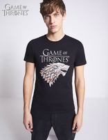 T-shirt Game of Thrones 100% coton - LMESTARK_BLACK - Vue de face - Celio France
