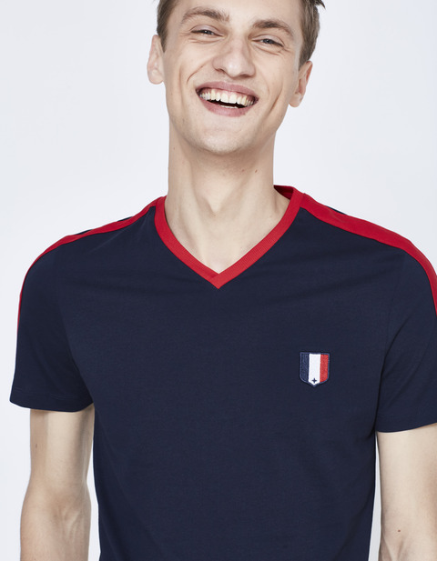 t-shirt France 2018 FIFA World Cup Russia™ - LLEFIFAVE_NAVYBLUE02 - Vue de face - Celio France