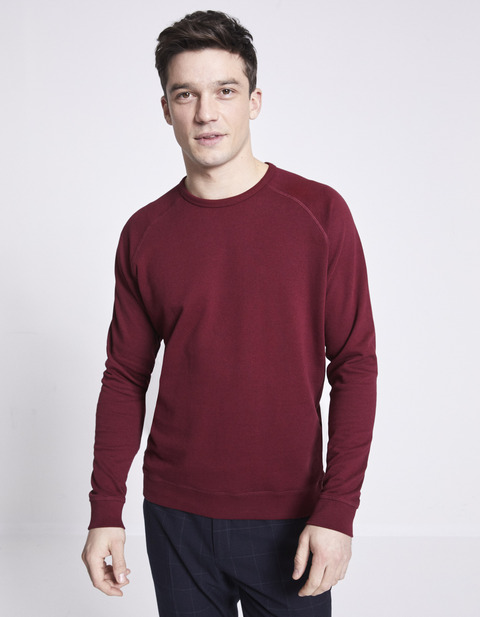 Sweat col rond 100% coton - NELIGHTY_PINOT - Vue de face - Celio France
