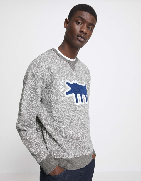 Sweat Keith Haring - LNEHARING_GRISCHINE - Vue de face - Celio France
