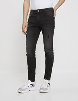 Jean skinny C45 destroy - NOBREAK_NOIR - Vue de face - Celio France