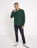 Polo piqué coton stretch - vert - MECONTRAS_PINEGREEN01 - Silhouette - Celio France