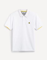 Polo piqué Keith Haring - LNEKHPOLO_WHITE - Image à plat - Celio France
