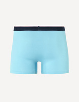 boxer coton stretch - MIKE_TURQUOISE - Vue à 45° - Celio France
