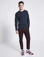 Chino court chiné stretch - NORBERT2_REDWINE - Silhouette - Celio France