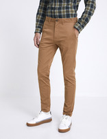 Chino skinny extensible - MOTALIA4_TERRABROWN - Vue de face - Celio France