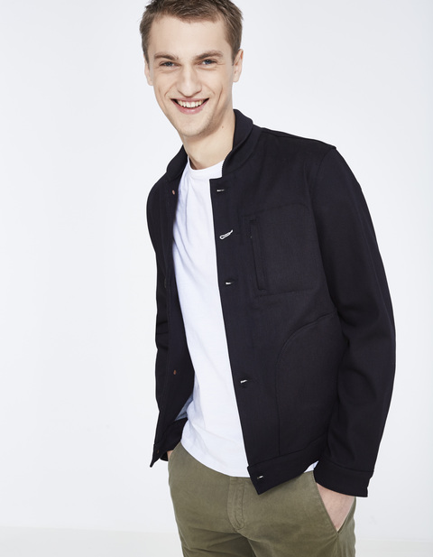 blouson court stretch - LUBLUE_MARINE - Vue de face - Celio France