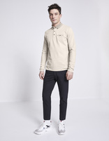 Polo manches longues - AMEPOLOTOP_LIGHTSAND - Silhouette - Celio France
