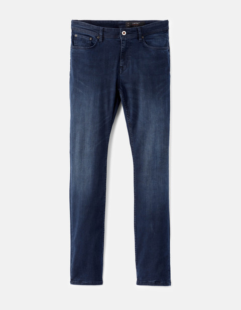 jean slim powerflex blue black - AFOWER_BLUEBLACK - Vue de face - Celio France