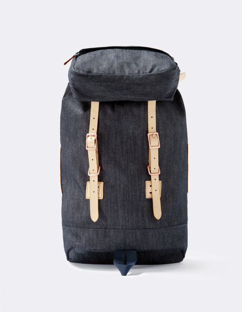 sac à dos effet denim - LIFLAP3_DENIM - Vue de face - Celio France