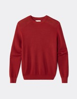 Pull col rond 100% coton - MEMO_RED - Image à plat - Celio France