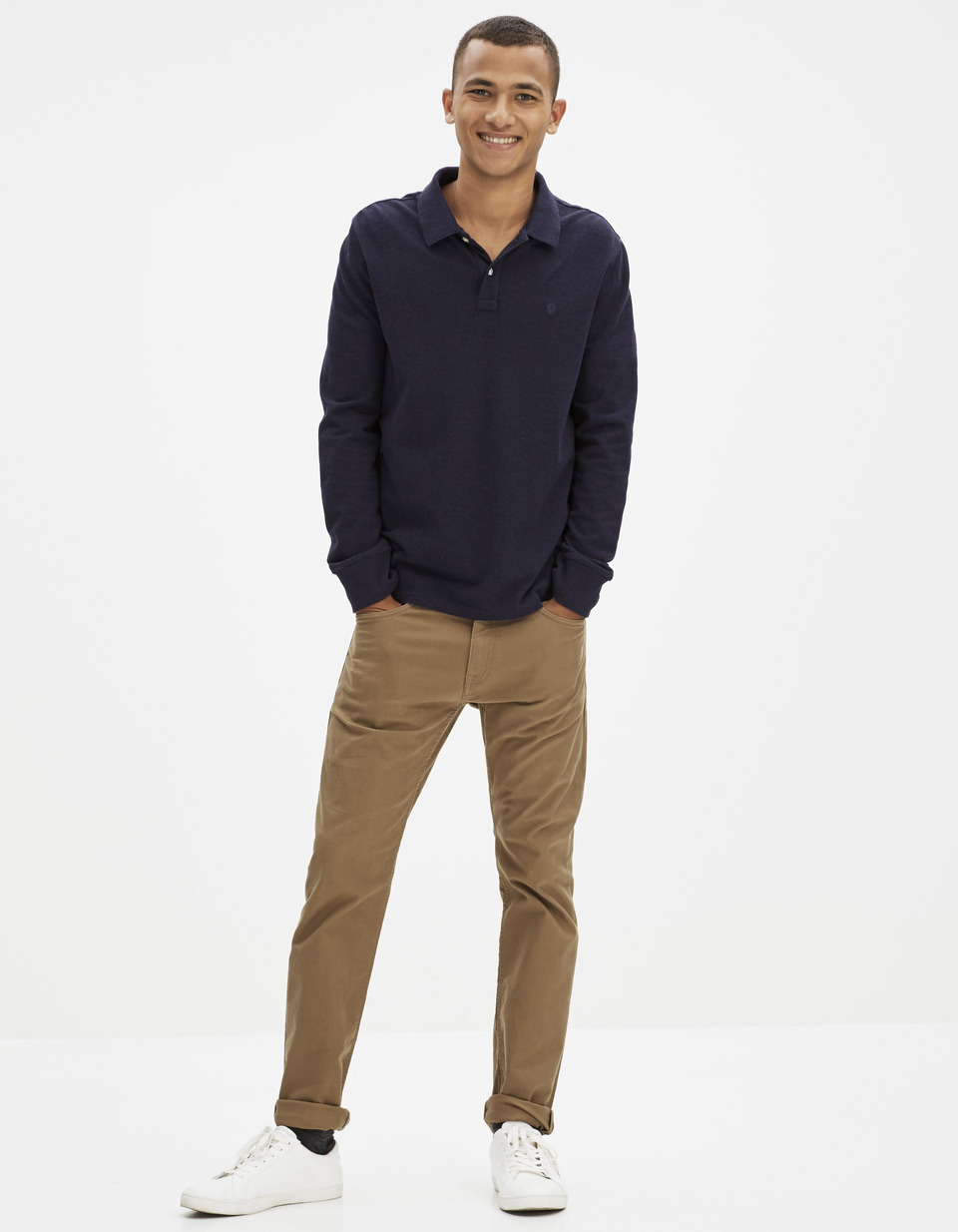 Top Polo 100% coton manches longues - FEPOLOML - Celio France RN92