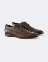 Chaussures derby 100% cuir - MYFIRST_BROWN - Non défini - Celio France