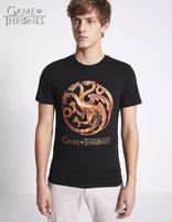 T-shirt Game of Thrones 100% coton - LMETARGA_BLACK - Vue de face - Celio France