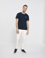 T-shirt col rond 100% coton - NEREYB_NAVY - Silhouette - Celio France
