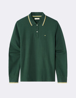 Polo piqué coton stretch - vert - MECONTRAS_PINEGREEN01 - Image à plat - Celio France