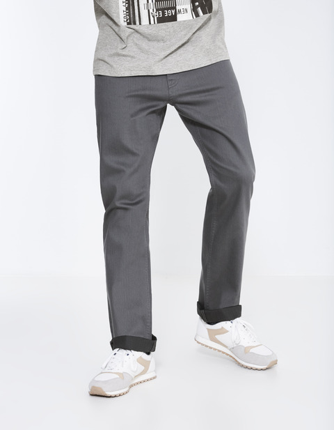 jean regular stretch 3 longueurs - PODART_ANTHRACITE - Vue de face - Celio France