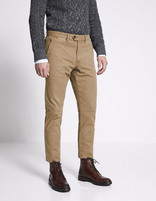 Chino slim coton stretch - MOTIFS_CAMEL - Vue de face - Celio France