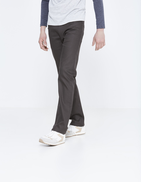 jean regular stretch 3 longueurs - PODART_BLACK - Vue de face - Celio France