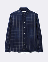 chemise regular 100% coton carreaux - NAWINDOW_INDIGO - Image à plat - Celio France