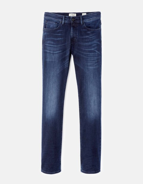 jean green straight C15 stretch 3L - GOCODY15_DARKINDIGO - Vue de face - Celio France