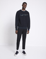 Sweat col rond 100% coton - ANELRIGHT_NAVY - Silhouette - Celio France