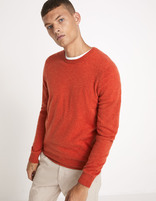 Pull col rond 100% cachemire 2 fils - JECLOUD_ORANGE - Vue de face - Celio France