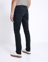 Jean straight C15 Supersoft  - MOSOFTY_BLUEBLACK - Vue de dos - Celio France
