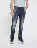 Jean straight C15 stretch - NOUSED_DOUBLESTONE - Vue de face - Celio France